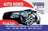 Autokomis - Gocza�kowice-Zdr�j - AUTO KOMIS FOKS Rok Za�o�enia 1992